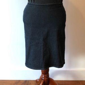 Jean stretch pencil skirt
